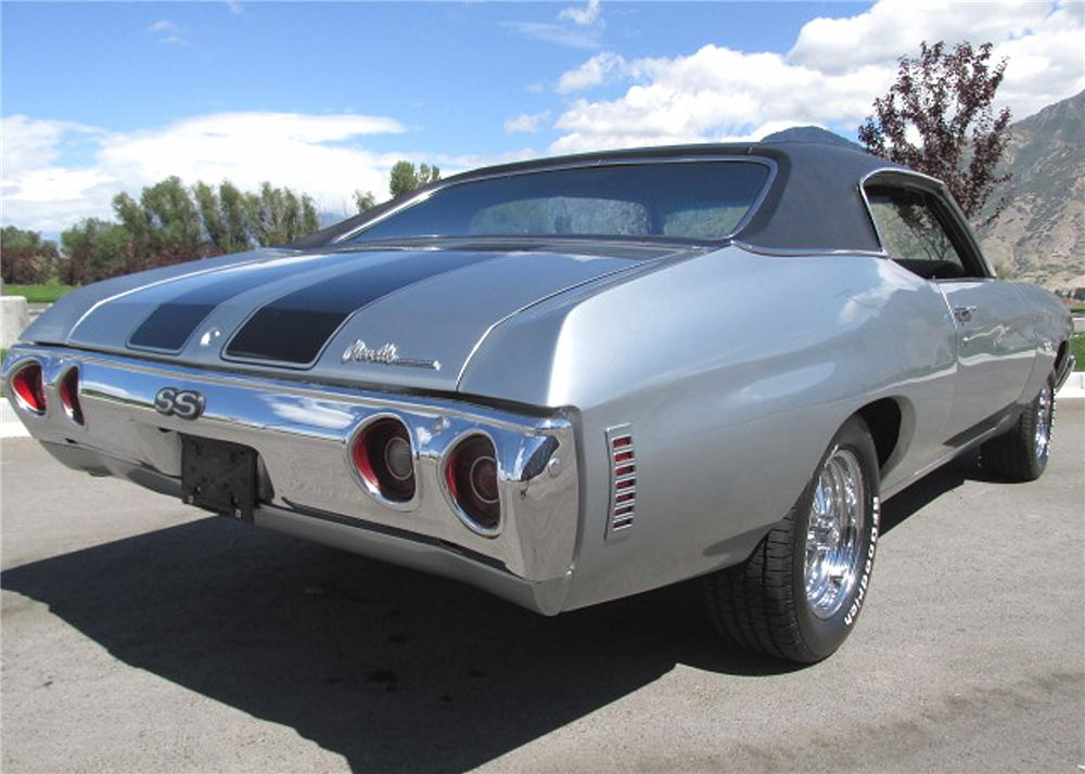 1971 CHEVROLET CHEVELLE SS 2 DOOR HARDTOP - Rear 3/4 - 161867