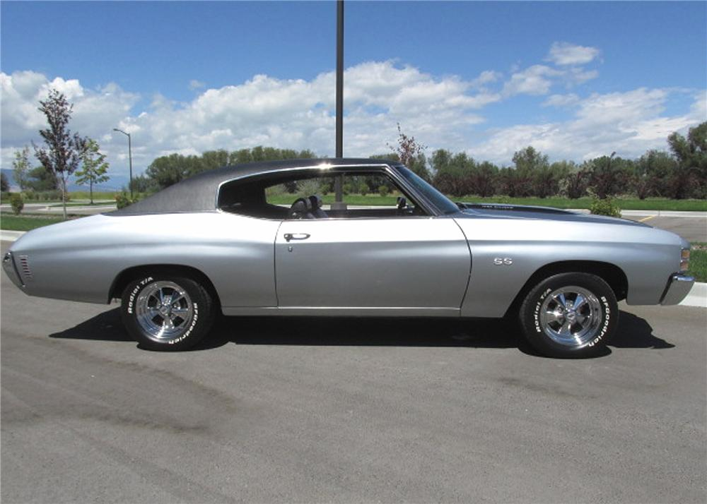 1971 CHEVROLET CHEVELLE SS 2 DOOR HARDTOP - Side Profile - 161867