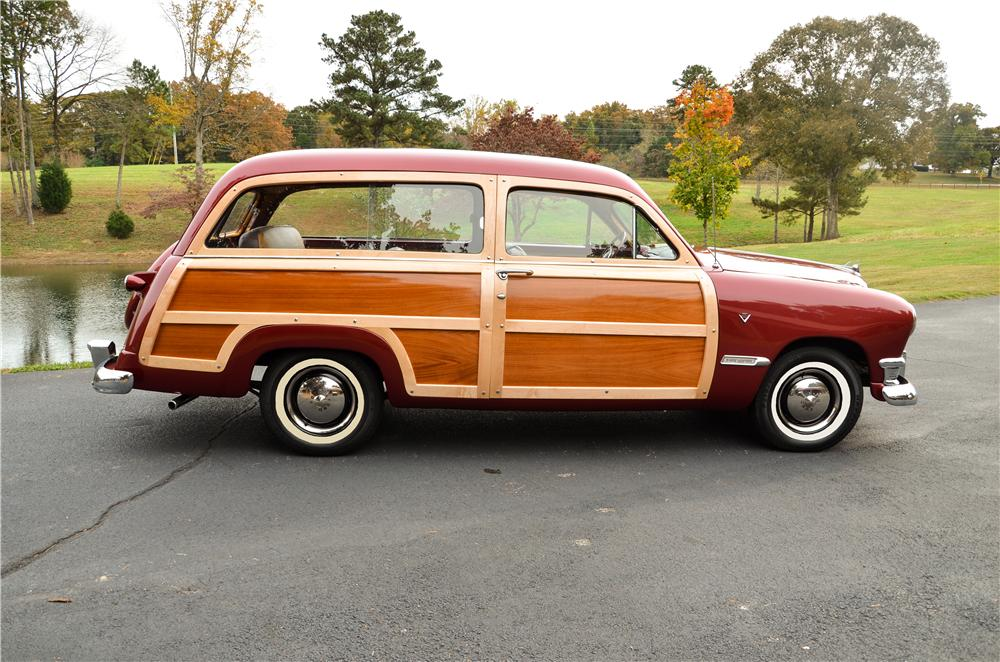 1950 FORD CUSTOM WOODY WAGON - Side Profile - 161869