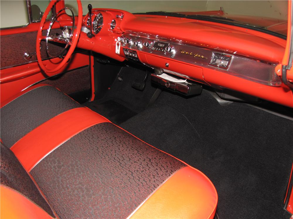1957 CHEVROLET BEL AIR SPORT COUPE - Interior - 161873