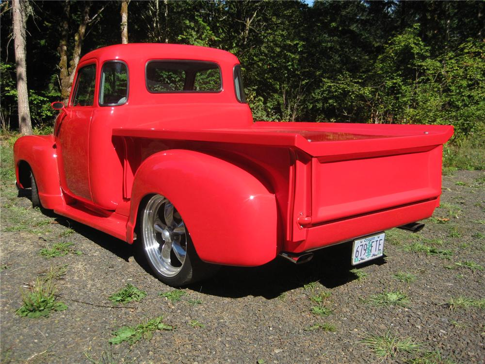 1953 GMC 1/2 TON CUSTOM PICKUP - Rear 3/4 - 161907
