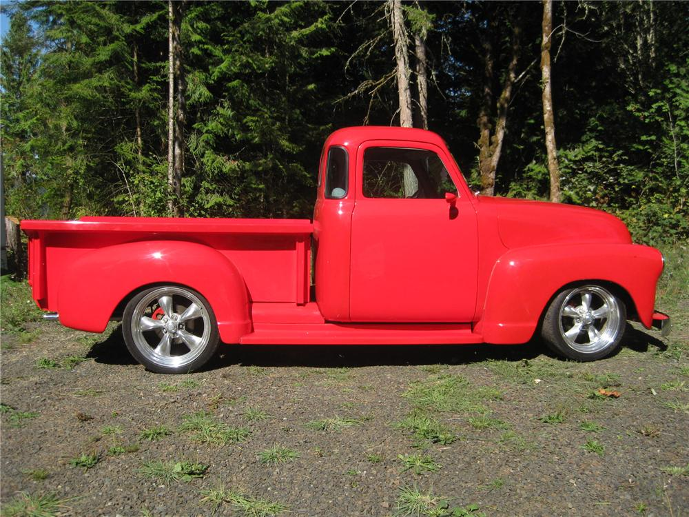 1953 GMC 1/2 TON CUSTOM PICKUP - Side Profile - 161907