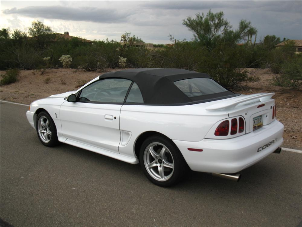 1998 FORD MUSTANG COBRA CONVERTIBLE - Rear 3/4 - 161914