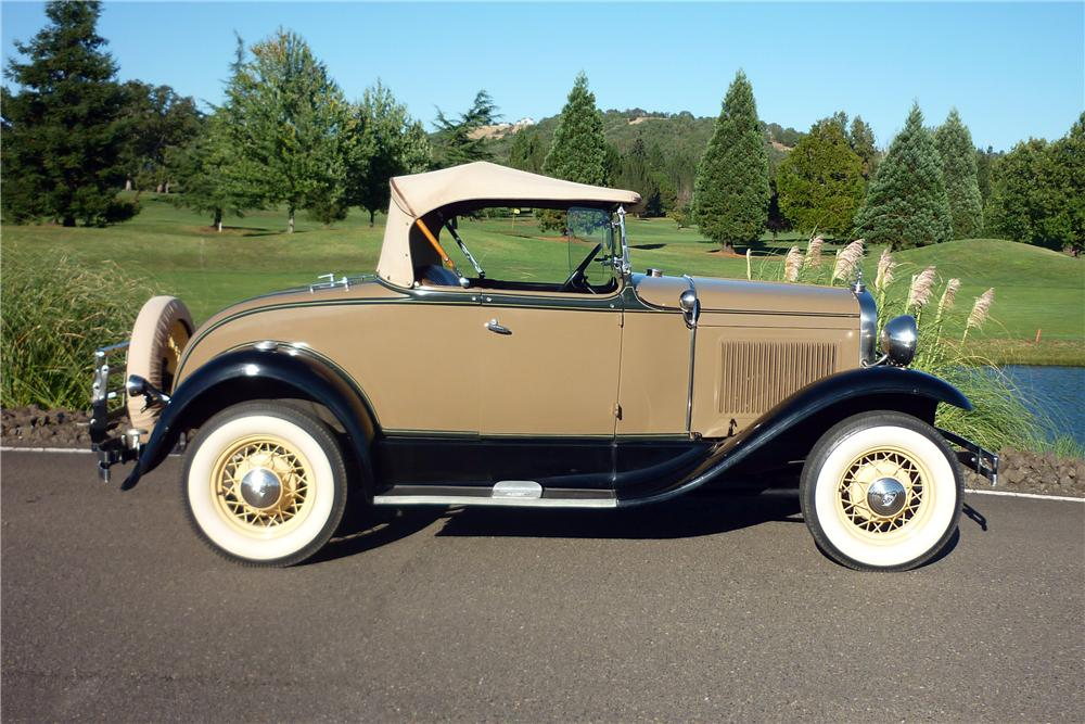 1930 FORD MODEL A ROADSTER - Side Profile - 161916