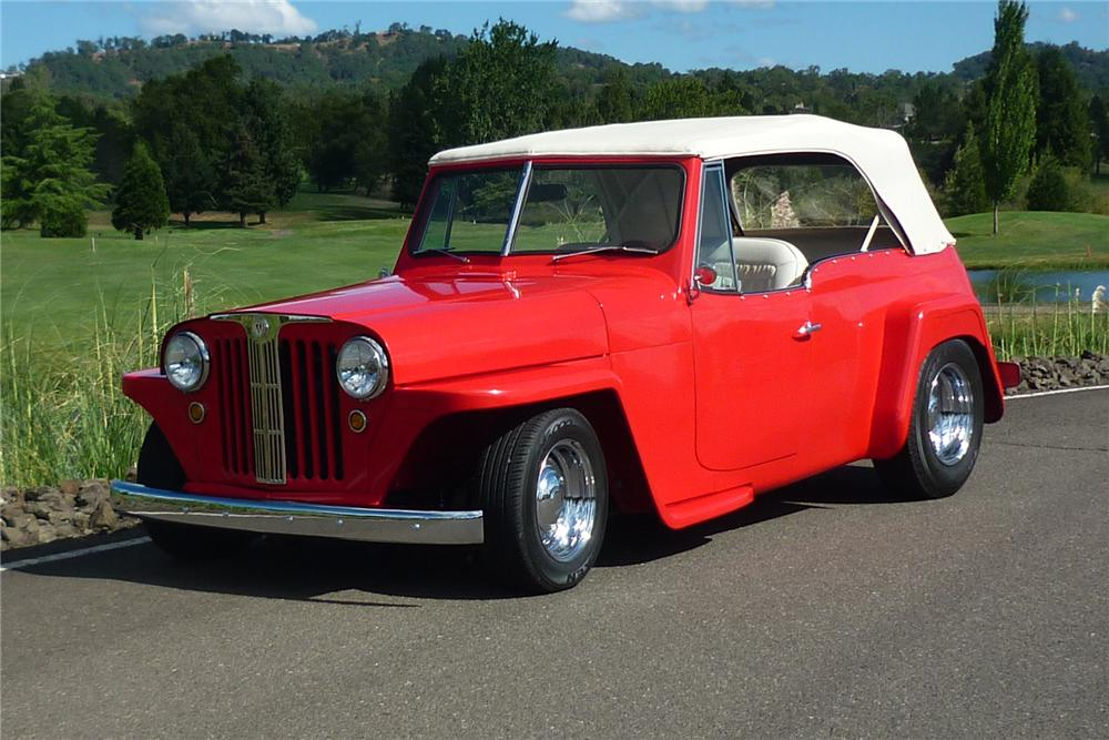 Front Web on Red Willy Jeepster S