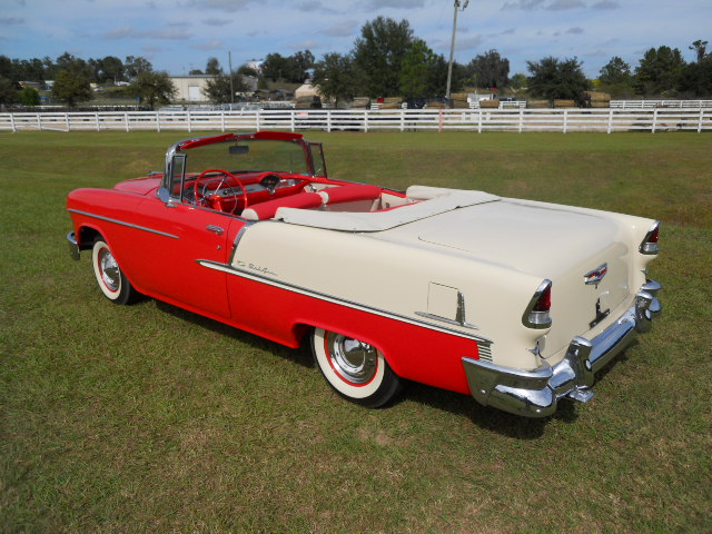 1955 CHEVROLET BEL AIR CONVERTIBLE - Front 3/4 - 161919