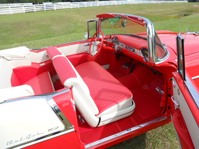 1955 CHEVROLET BEL AIR CONVERTIBLE - Interior - 161919