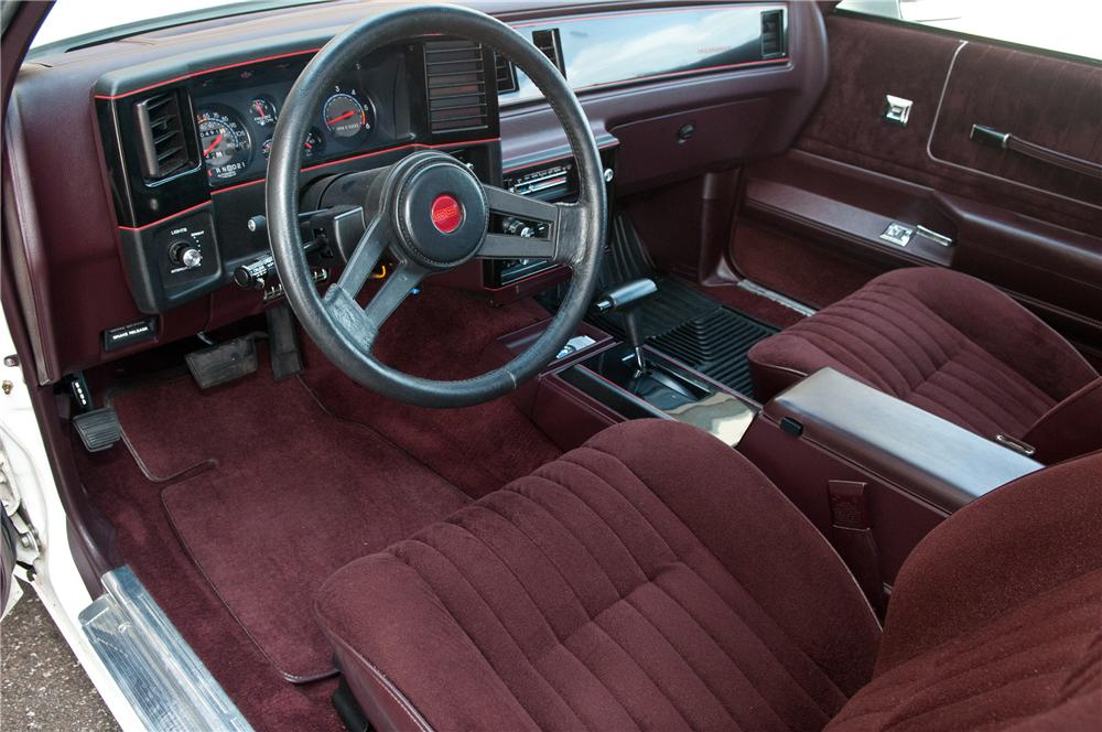 1987 CHEVROLET MONTE CARLO SS 2 DOOR AERO COUPE - Interior - 161921