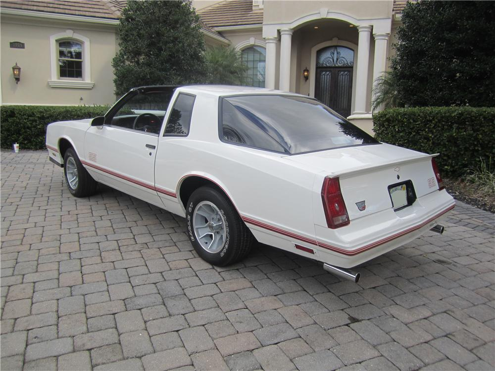 1987 CHEVROLET MONTE CARLO SS 2 DOOR AERO COUPE - Rear 3/4 - 161921