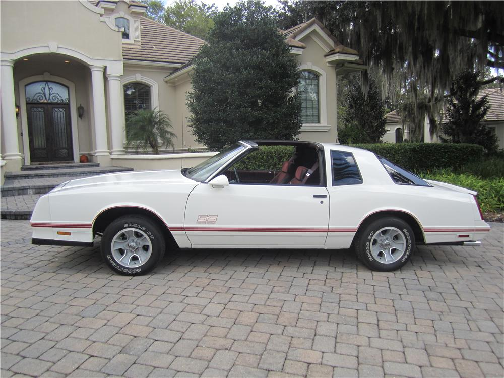 1987 CHEVROLET MONTE CARLO SS 2 DOOR AERO COUPE - Side Profile - 161921