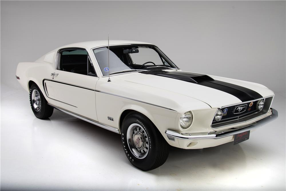 1968 FORD MUSTANG GT 428 CJ FASTBACK - Front 3/4 - 161924