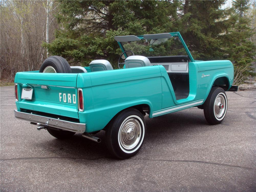 1966 FORD BRONCO ROADSTER - Rear 3/4 - 161935
