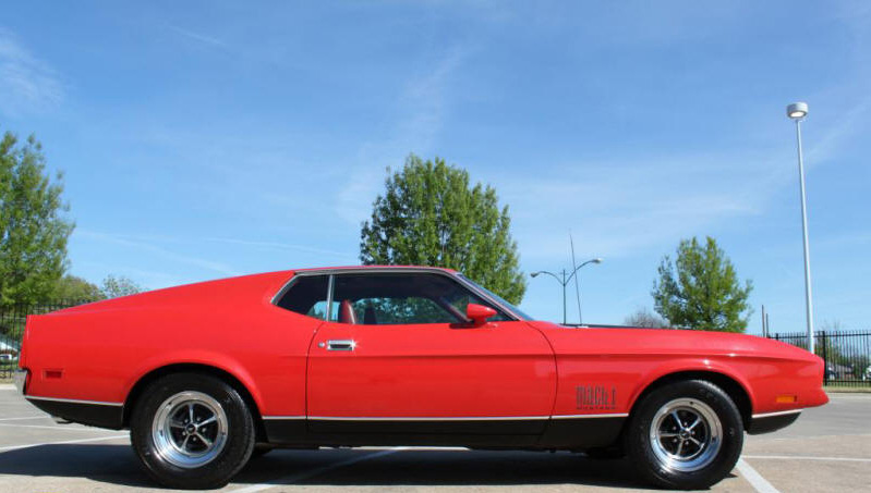 1971 FORD MUSTANG MACH 1 429 CJ FASTBACK - Side Profile - 161939