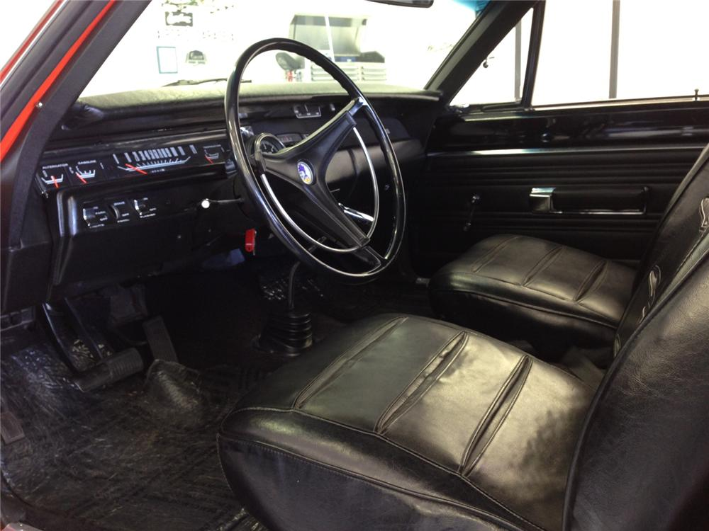 1969 PLYMOUTH ROAD RUNNER 2 DOOR SEDAN - Interior - 161942