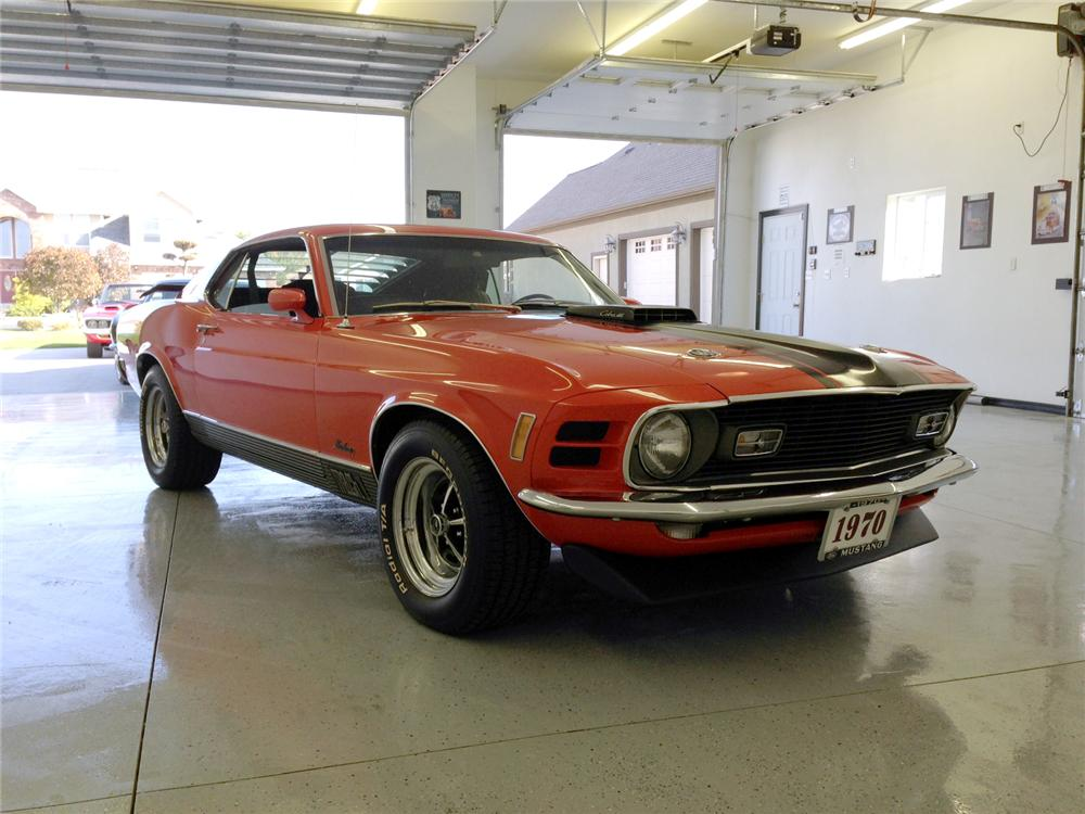 1970 FORD MUSTANG MACH 1 428 CJR FASTBACK - Front 3/4 - 161944