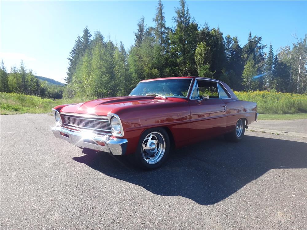 1966 CHEVROLET NOVA CUSTOM 2 DOOR HARDTOP - Front 3/4 - 161958
