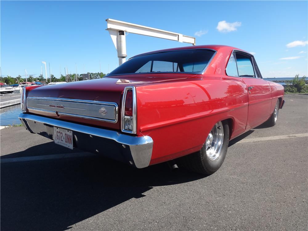 1966 CHEVROLET NOVA CUSTOM 2 DOOR HARDTOP - Rear 3/4 - 161958