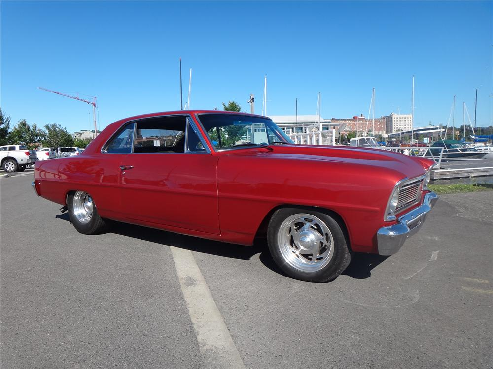 1966 CHEVROLET NOVA CUSTOM 2 DOOR HARDTOP - Side Profile - 161958