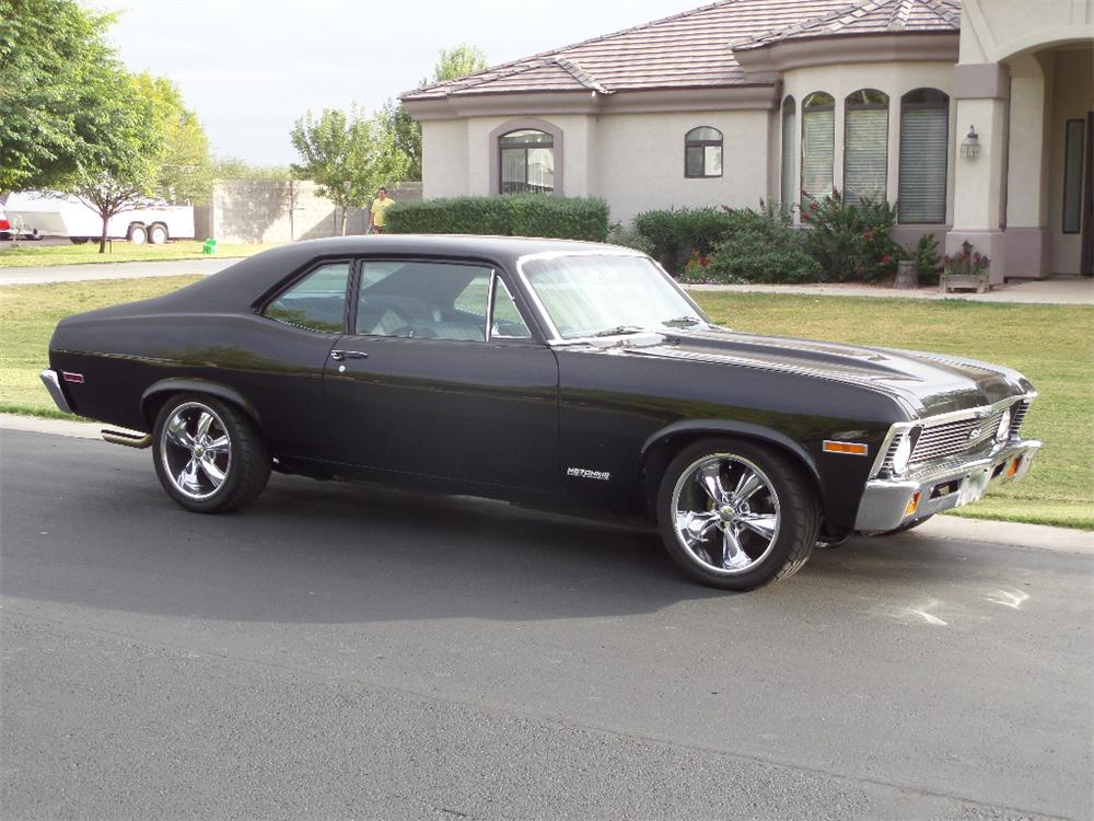 1972 CHEVROLET NOVA CUSTOM 2 DOOR COUPE - Front 3/4 - 161959