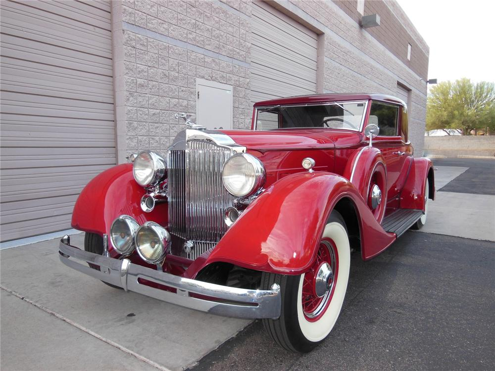 1934 PACKARD 1101 COUPE - Front 3/4 - 161982