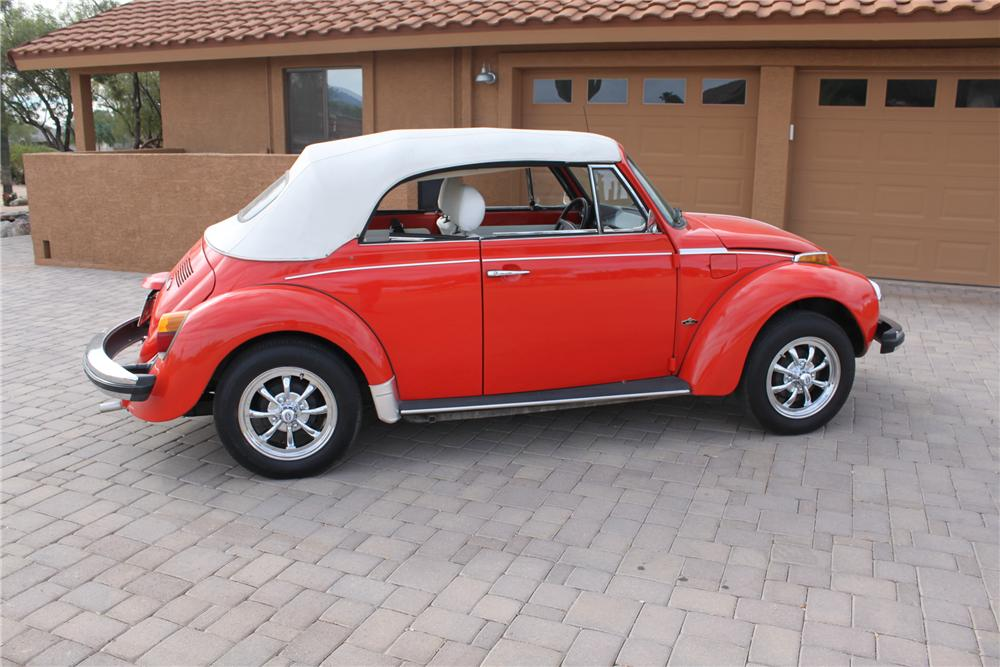 1979 VOLKSWAGEN BEETLE CONVERTIBLE - Side Profile - 161997