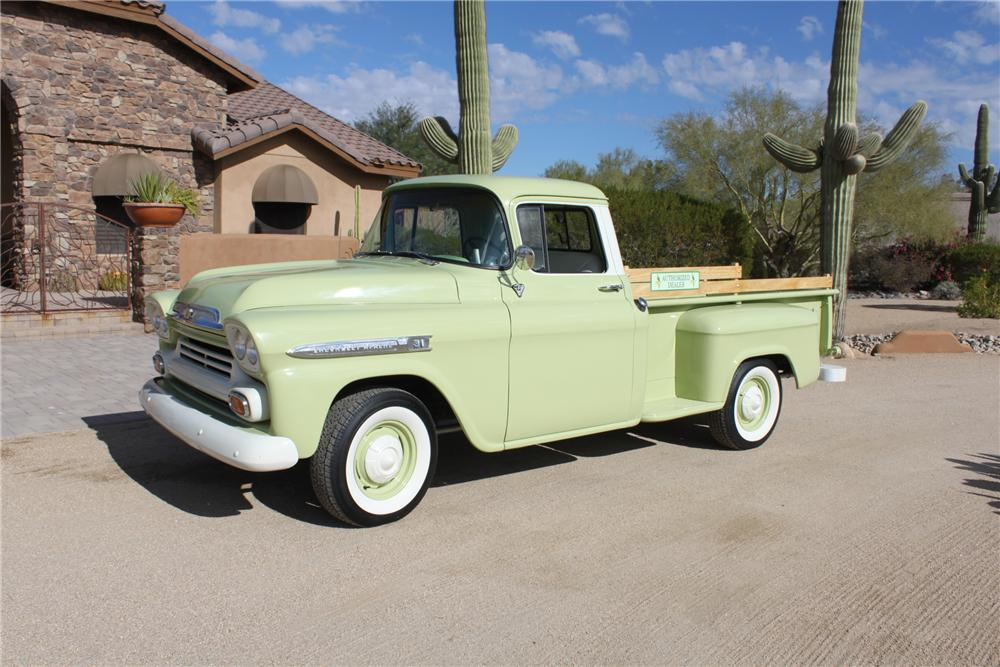 1957 CHEVROLET 3200 PICKUP - Side Profile - 162007