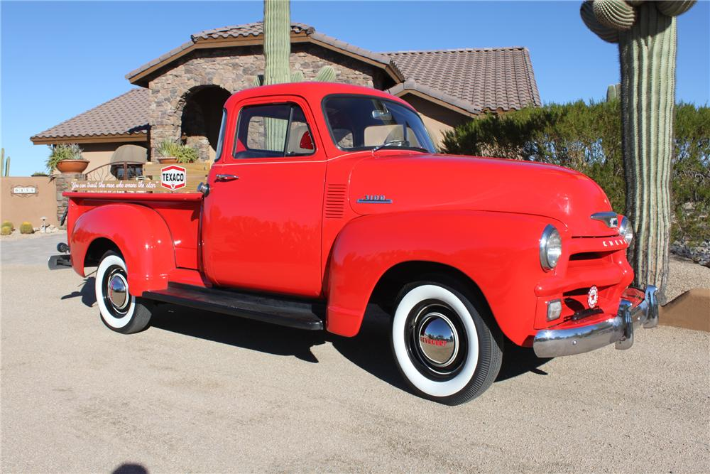 1954 CHEVROLET 3100 PICKUP - Front 3/4 - 162009