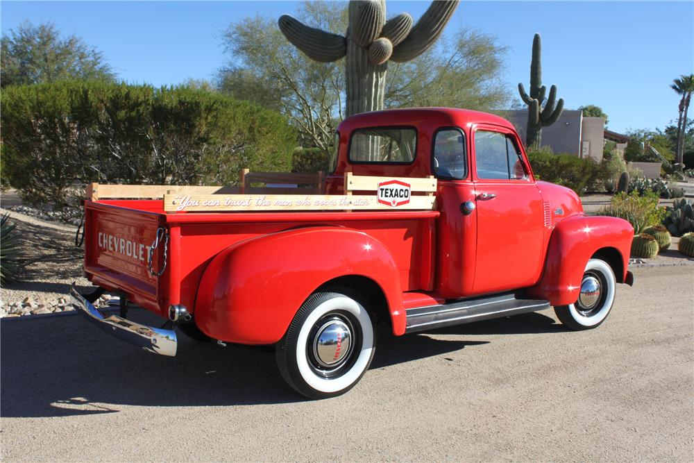 1954 CHEVROLET 3100 PICKUP - Rear 3/4 - 162009