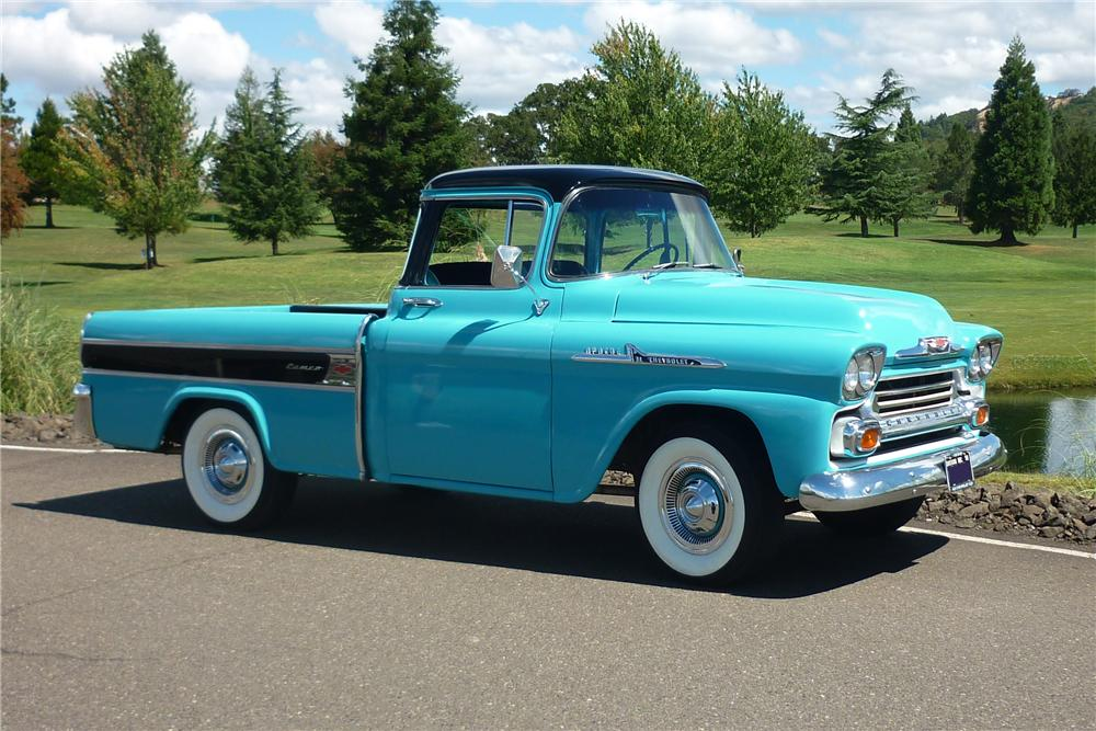1958 CHEVROLET CAMEO CUSTOM PICKUP - Front 3/4 - 162010