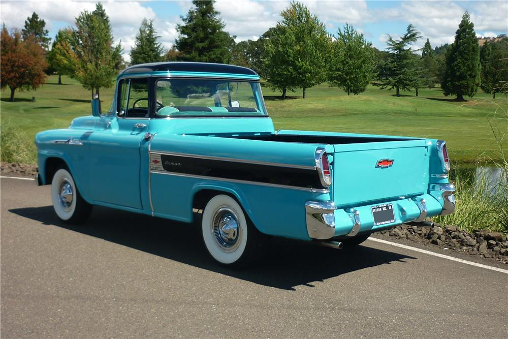 1958 CHEVROLET CAMEO CUSTOM PICKUP - Rear 3/4 - 162010