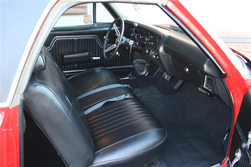 1972 CHEVROLET EL CAMINO CUSTOM PICKUP - Interior - 162014