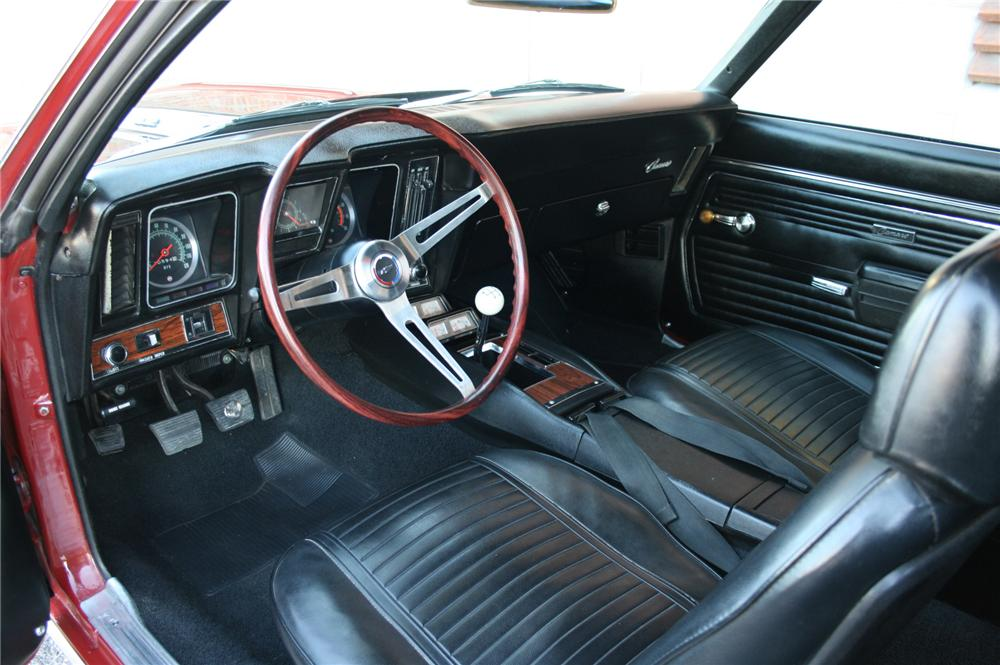 1969 CHEVROLET CAMARO Z/28 2 DOOR COUPE - Interior - 162021