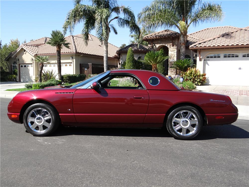 2004 FORD THUNDERBIRD CONVERTIBLE - Side Profile - 162023