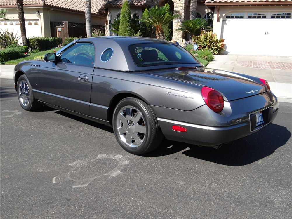 2003 FORD THUNDERBIRD CONVERTIBLE - Rear 3/4 - 162027