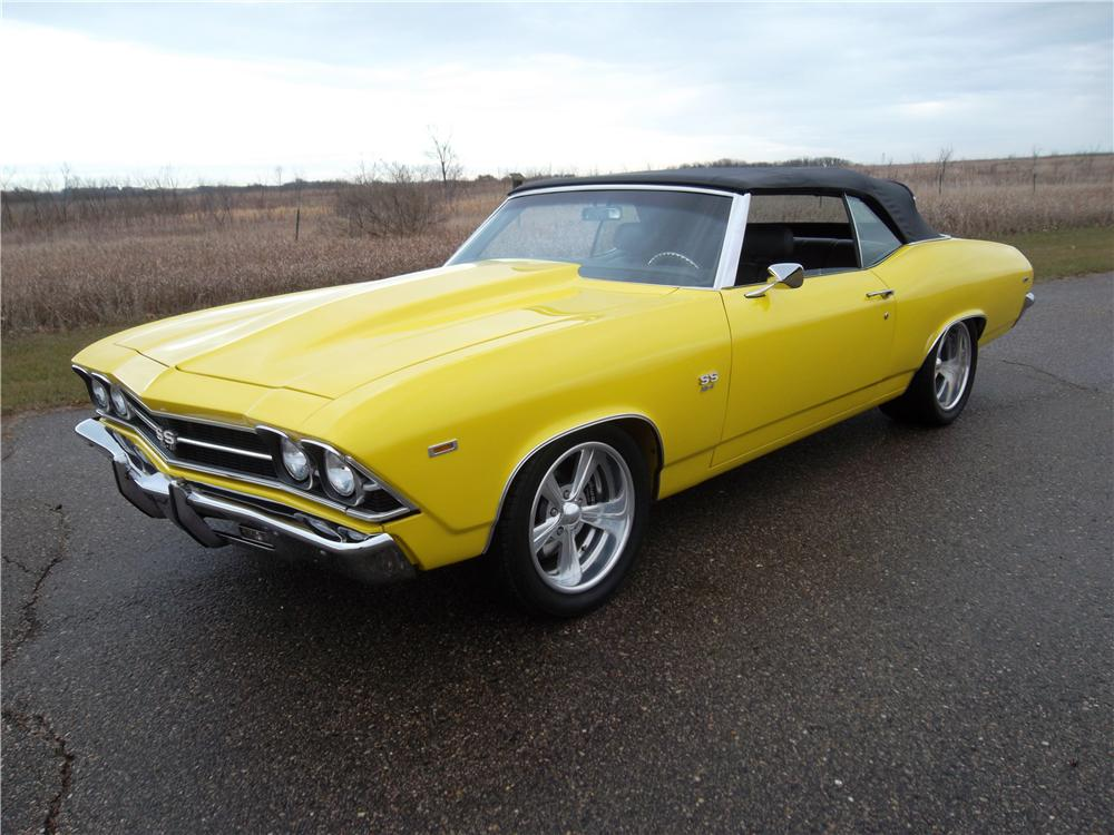 1969 CHEVROLET CHEVELLE SS CUSTOM CONVERTIBLE - Front 3/4 - 162043