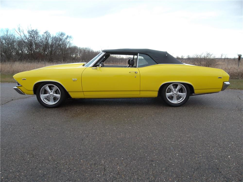 1969 CHEVROLET CHEVELLE SS CUSTOM CONVERTIBLE - Side Profile - 162043