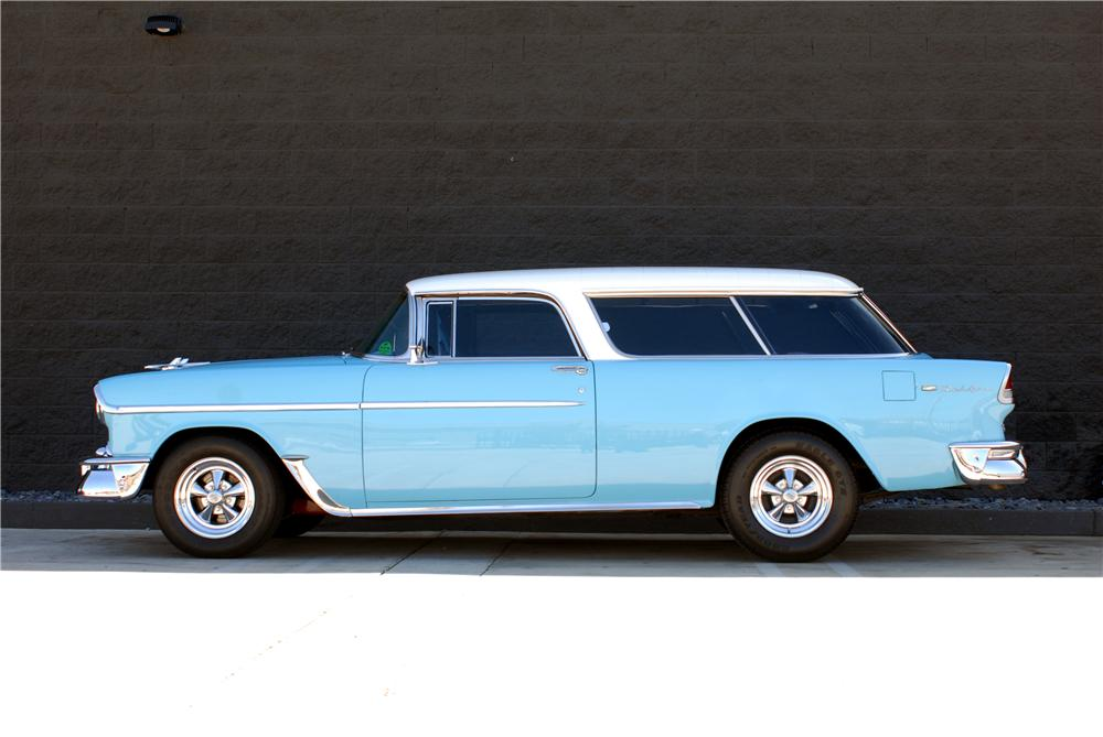 1955 CHEVROLET NOMAD CUSTOM STATION WAGON - Side Profile - 162051