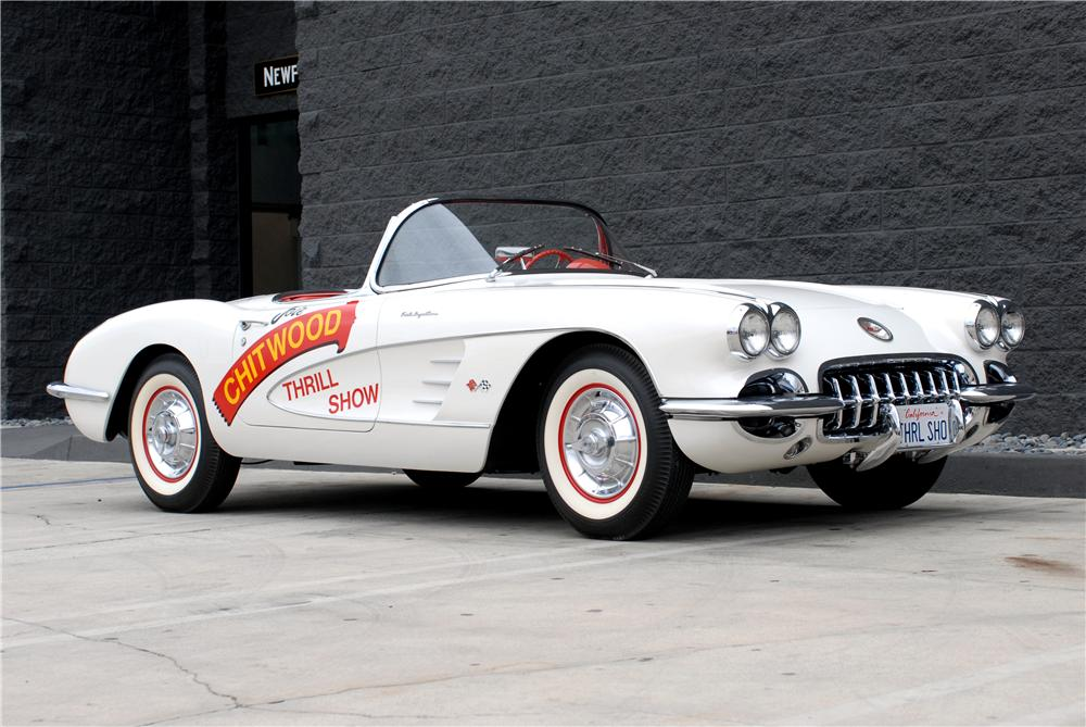 1958 CHEVROLET CORVETTE CONVERTIBLE - Front 3/4 - 162053