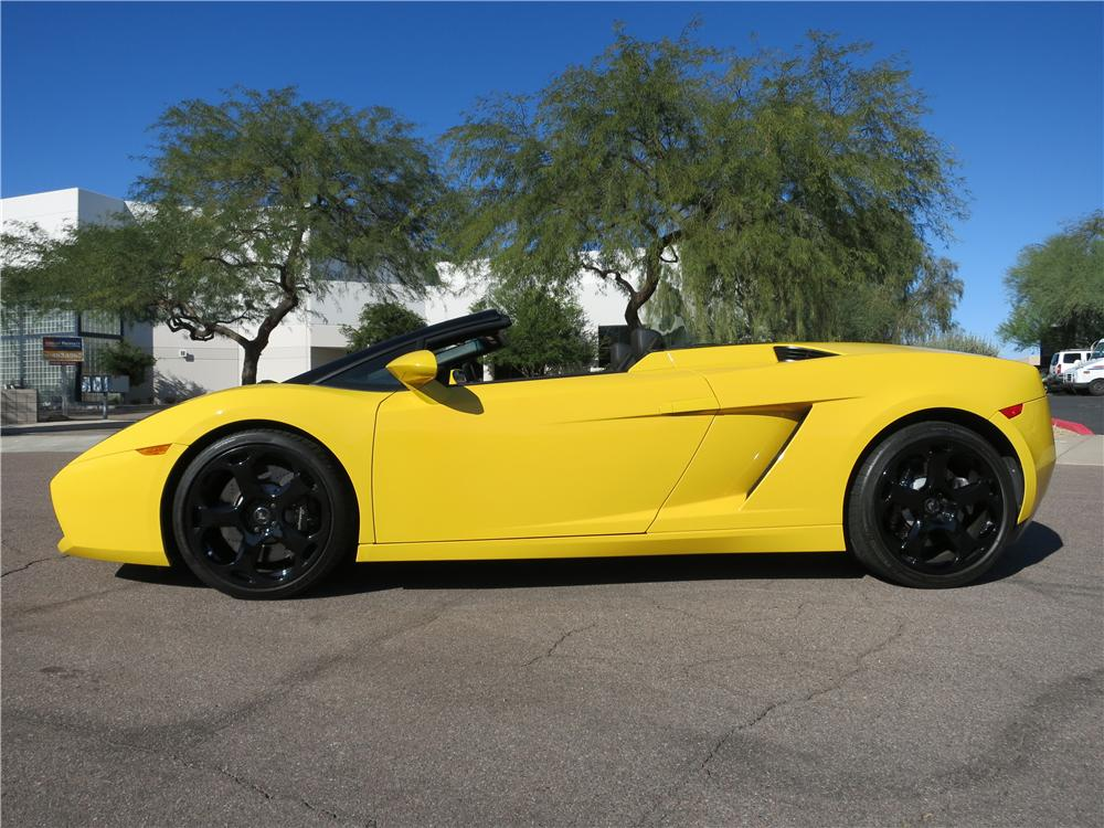 2007 LAMBORGHINI GALLARDO SPYDER - Side Profile - 162067