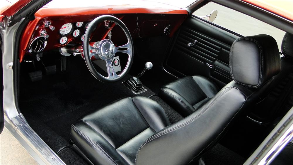 1968 CHEVROLET CAMARO SS CUSTOM 2 DOOR COUPE - Interior - 162069