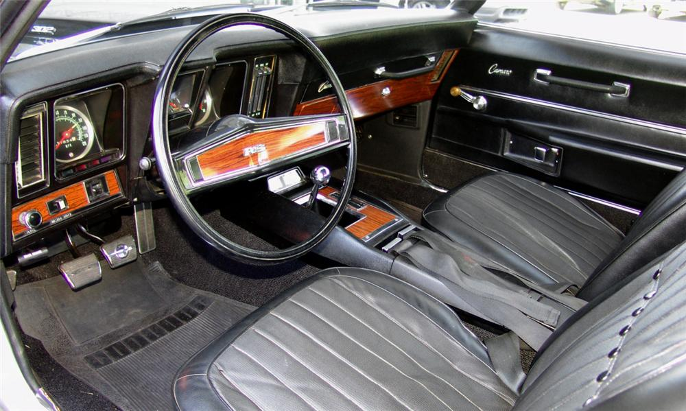 1969 CHEVROLET CAMARO Z/28 RS 2 DOOR HARDTOP - Interior - 16209
