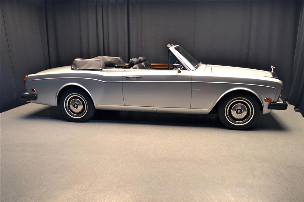 1980 ROLLS-ROYCE CORNICHE CONVERTIBLE - Side Profile - 162096