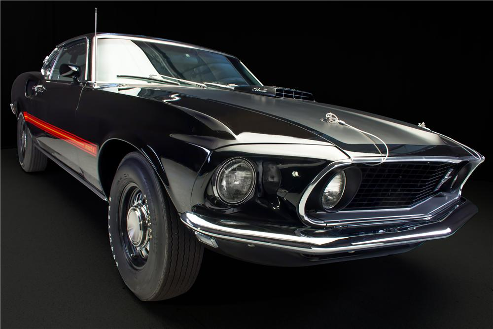 1969 FORD MUSTANG MACH 1 428 CJ FASTBACK - Front 3/4 - 162097