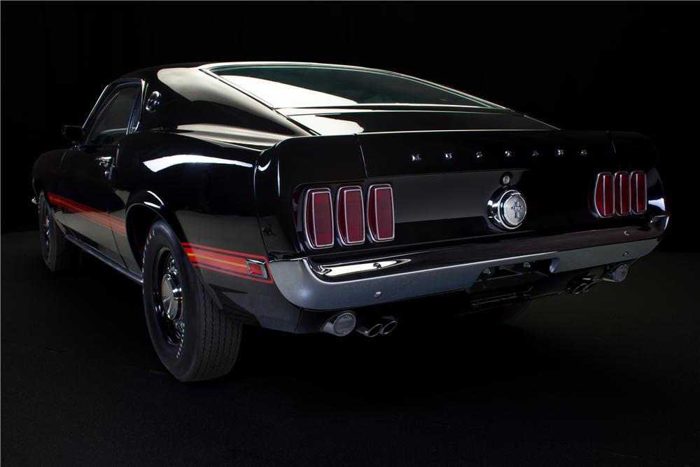 1969 FORD MUSTANG MACH 1 428 CJ FASTBACK - Rear 3/4 - 162097