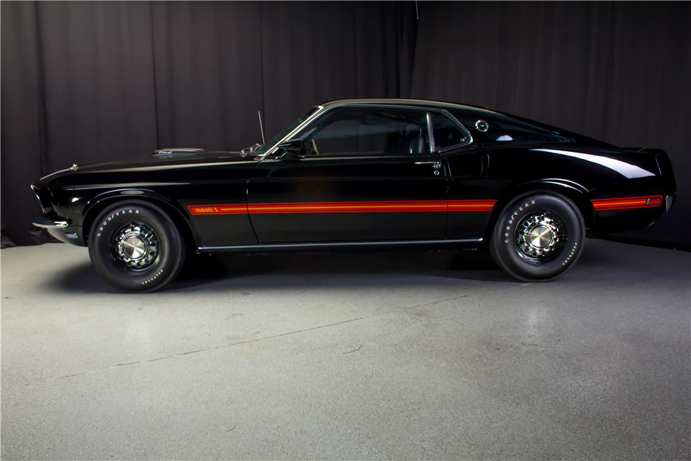 1969 FORD MUSTANG MACH 1 428 CJ FASTBACK - Side Profile - 162097