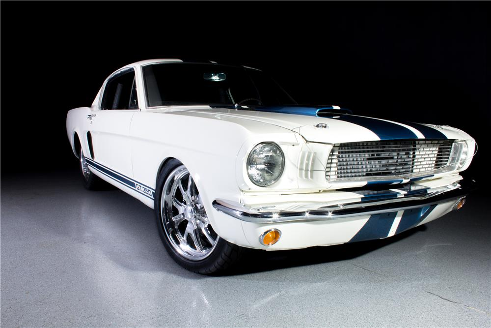 1966 FORD MUSTANG CUSTOM FASTBACK SHELBY TRIBUTE - Front 3/4 - 162099