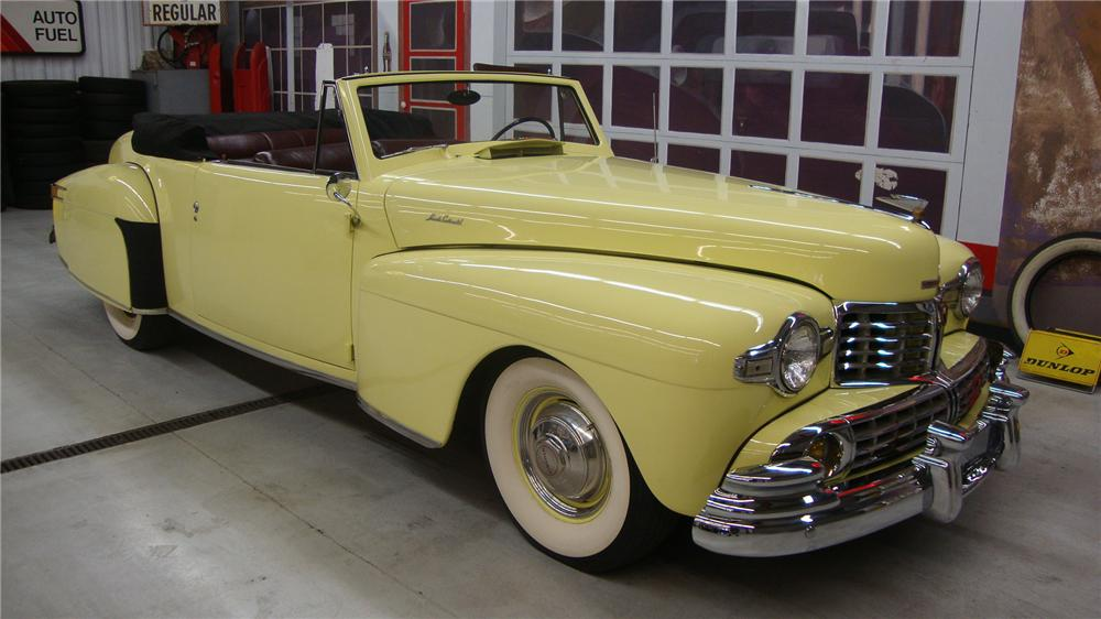 1946 LINCOLN CONTINENTAL CONVERTIBLE - Front 3/4 - 162138