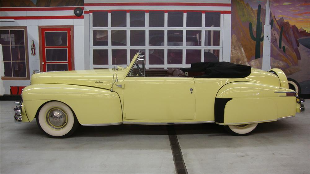 1946 LINCOLN CONTINENTAL CONVERTIBLE - Side Profile - 162138