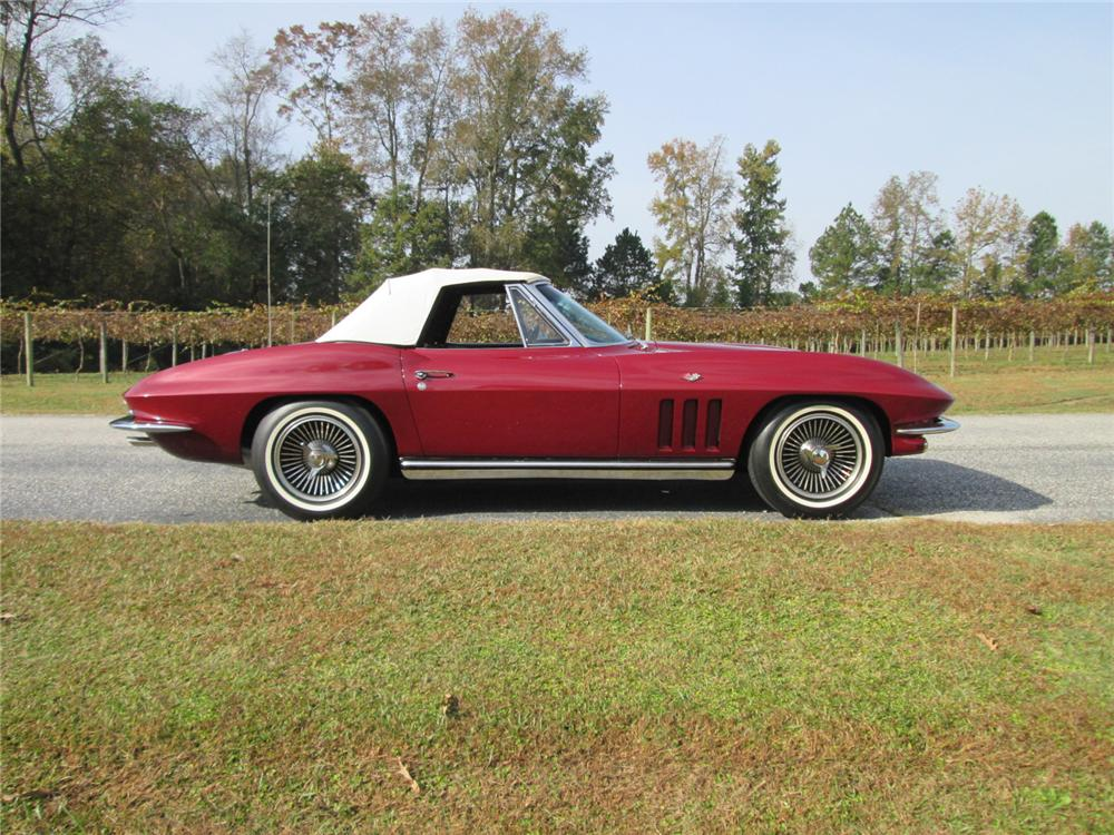 1965 CHEVROLET CORVETTE CONVERTIBLE - Side Profile - 162141