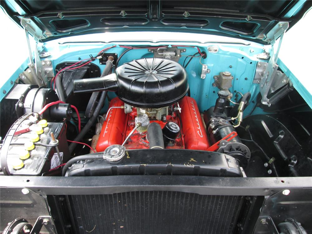 1957 CHEVROLET BEL AIR CONVERTIBLE - Engine - 162142